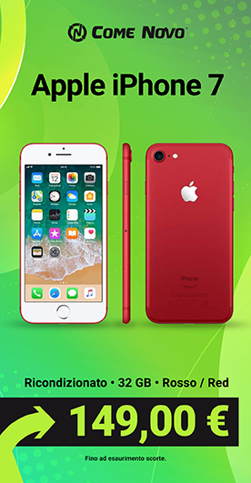 Apple iPhone 7 Rosso / Red Edition